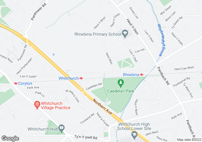 Map for Pen Y Dre, Rhiwbina, Cardiff