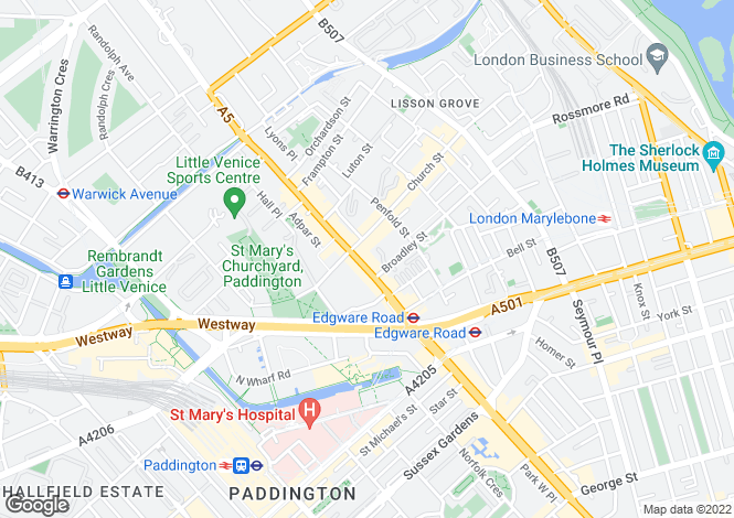 Map for 378-380 Edgware Road, Paddington