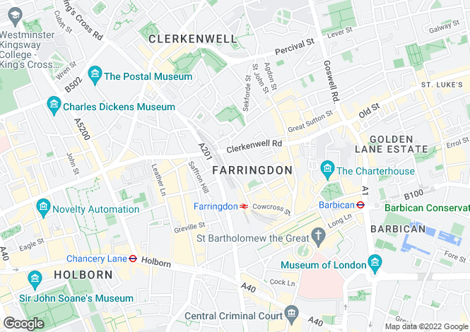 Map for Turnmill Street Clerkenwell EC1M
