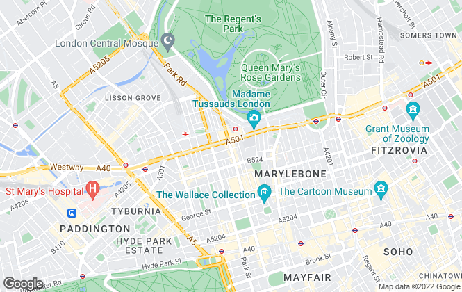 Map for Kinleigh Folkard & Hayward - Sales, Marylebone