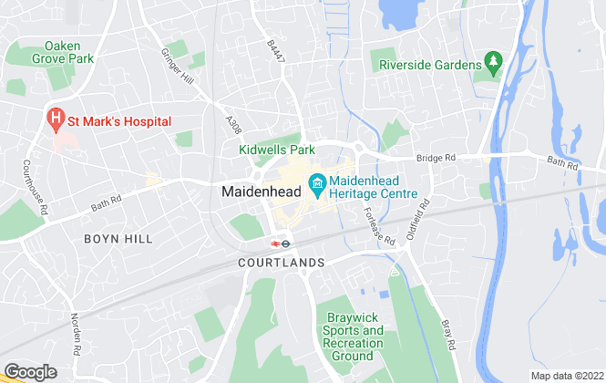 Map for Connells, Maidenhead