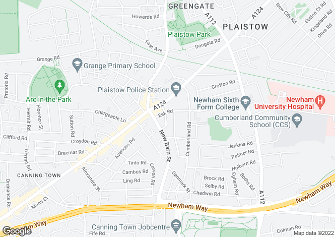 Map for Adine Road, Plaistow, London, E13 8LL