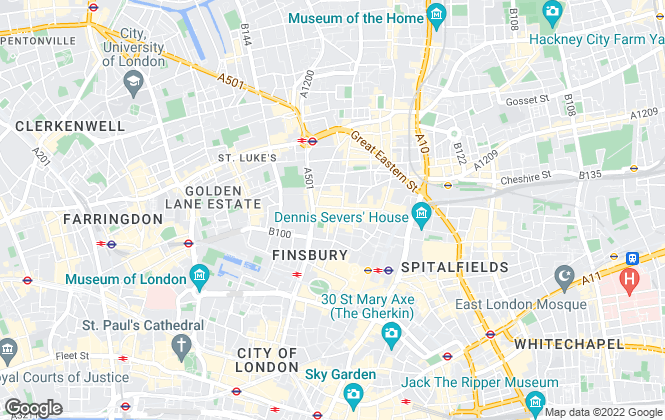 Map for C F COMMERCIAL LIMITED, Shoreditch