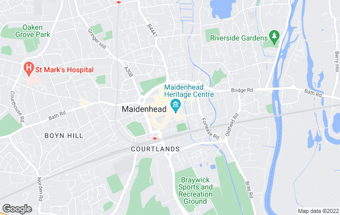 Map for Hamptons International Sales, Maidenhead