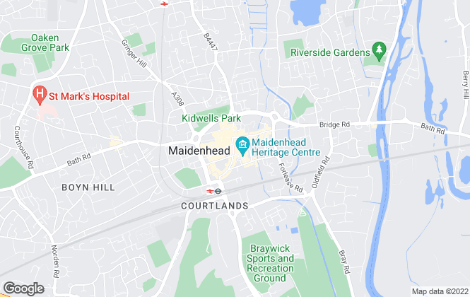 Map for Roger Platt, Maidenhead