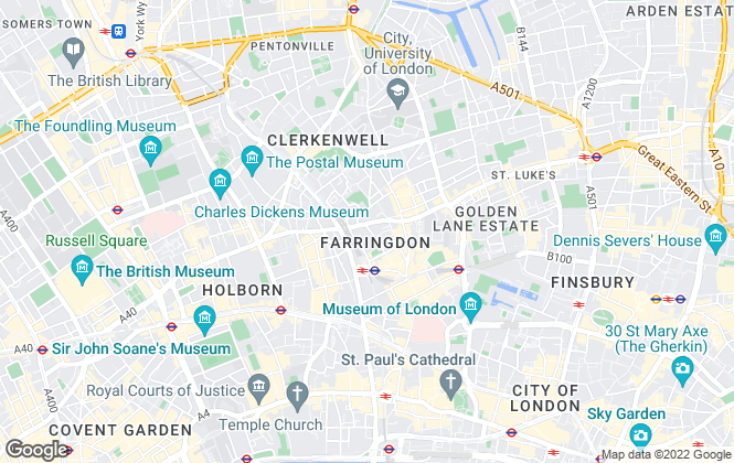 Map for Spencer Thomas, Clerkenwell