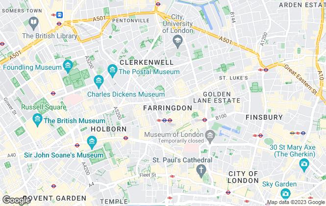 Map for Hurford Salvi Carr, Britton Street