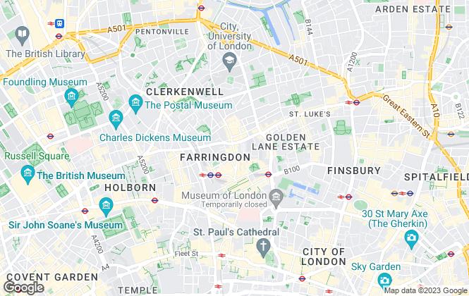 Map for Stirling Ackroyd, Clerkenwell, EC1M