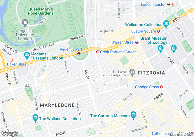 Map for Devonshire Street,