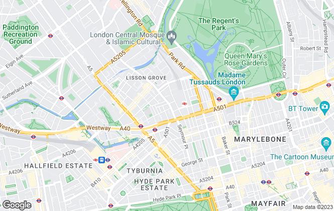 Map for Marylebone Properties International, London