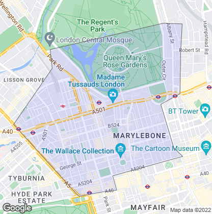Map of property in Marylebone