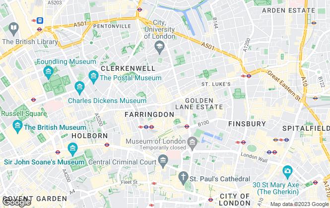 Map for Greene & Co, Clerkenwell