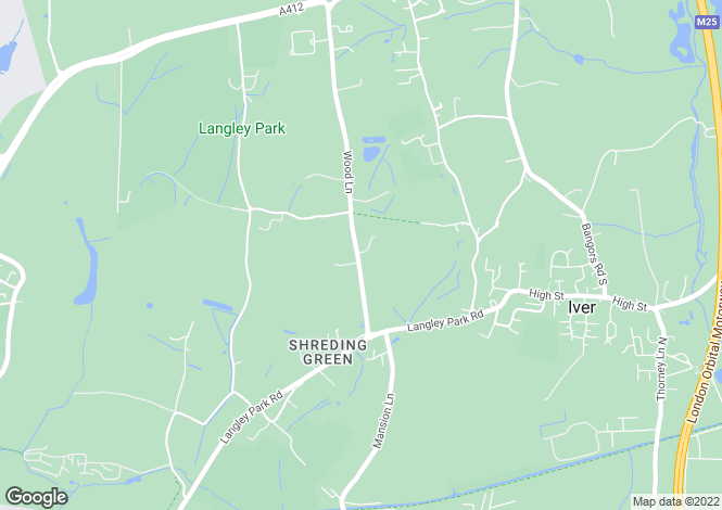 Map for Iver Grove Lodge, Wood Lane, IVER, Buckinghamshire