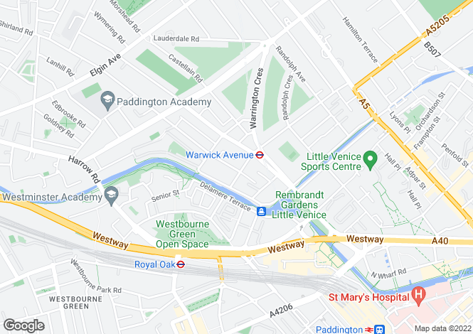 Map for Clifton Villas, Little Venice, London, W9