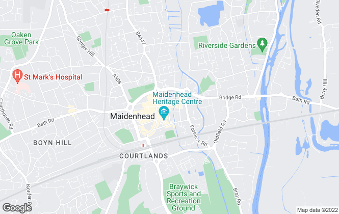 Map for Kirkwood Personal Estate Agents, Maidenhead