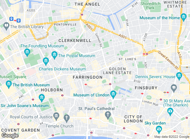 Map for Currell Clerkenwell, Clerkenwell