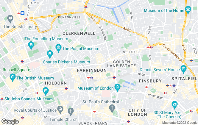 Map for Currell Clerkenwell, Clerkenwell - Lettings