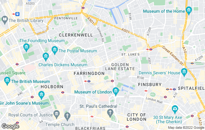 Map for Foxtons, Clerkenwell