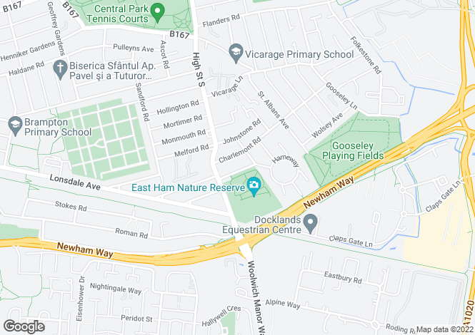 Map for Norman Road, London E6