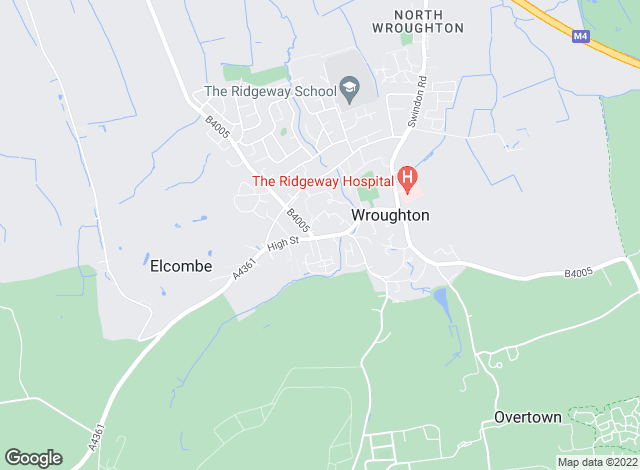 Map for Richard James, Wroughton