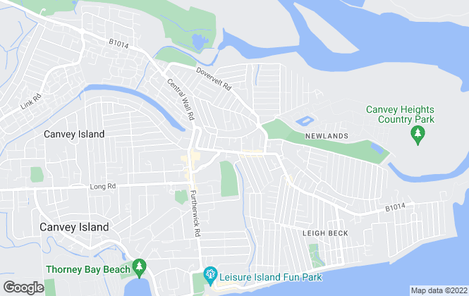 Map for Heale Property Management, Canvey Island