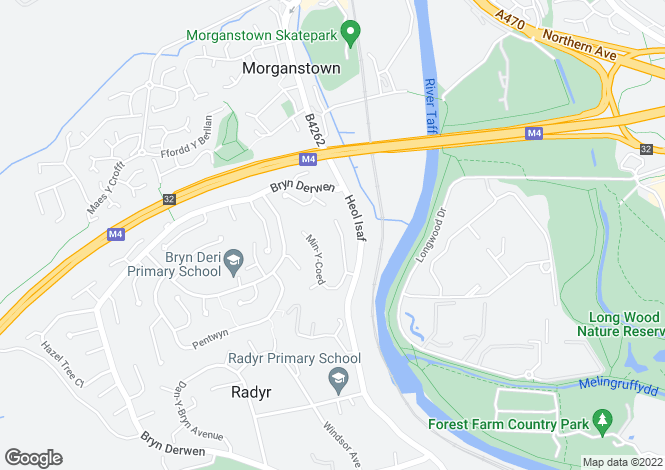 Map for Ty Mynydd Close, Radyr, CARDIFF