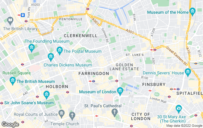 Map for Kinleigh Folkard & Hayward - Lettings, Clerkenwell - Lettings
