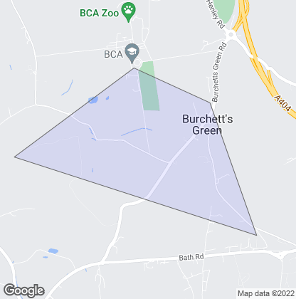 Map of property in Burchetts Green