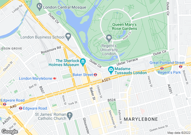 Map for Paget House, 10 Cornwall Terrace, Regent's Park, London, NW1