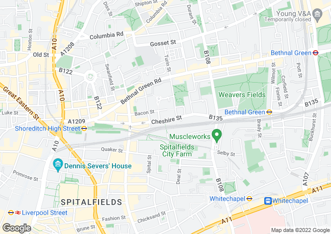 Map for Fuller Close, Bethnal Green, E2