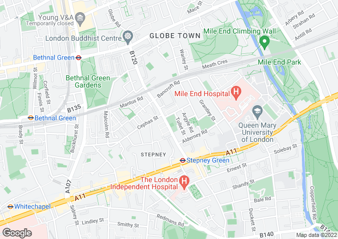 Map for Elysium Apartments, 124 Globe Road, London, E1