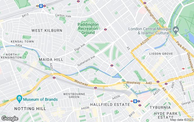 Map for Londonwide Estates, Little Venice