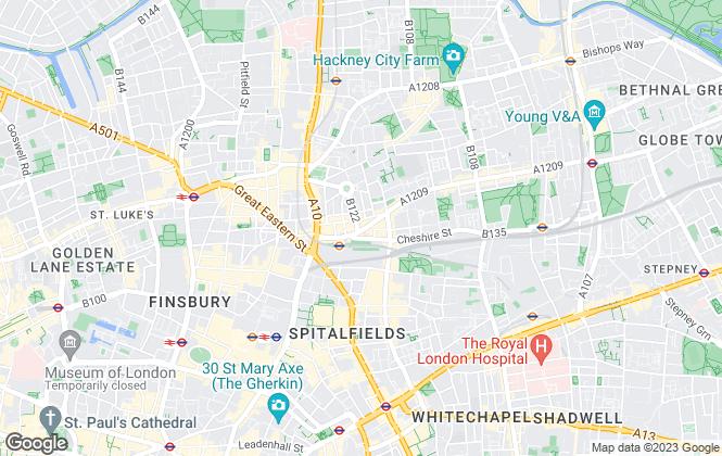 Map for Peach Properties, Shoreditch