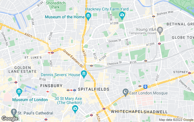 Map for Peach Properties, Shoreditch