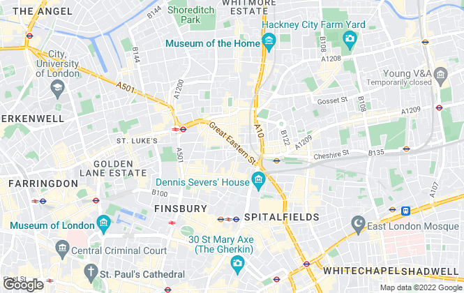 Map for City & Urban (Shoreditch), London