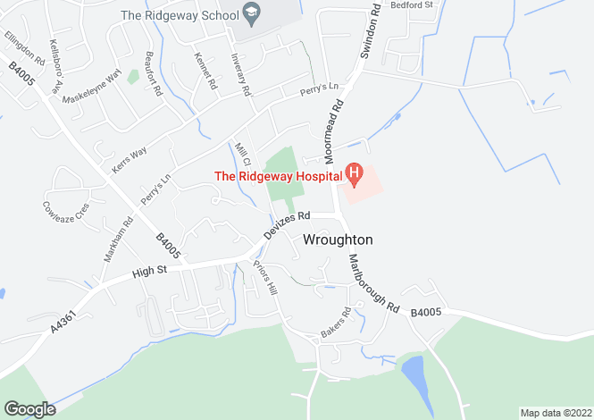 Map for The Marsh, Wanborough Swindon, Wiltshire
