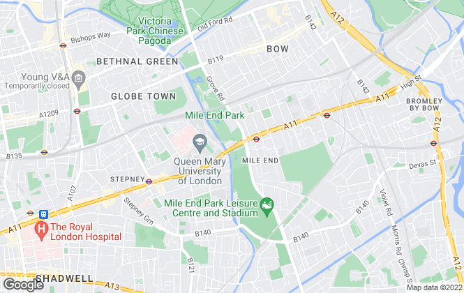Map for W J Meade, Bow
