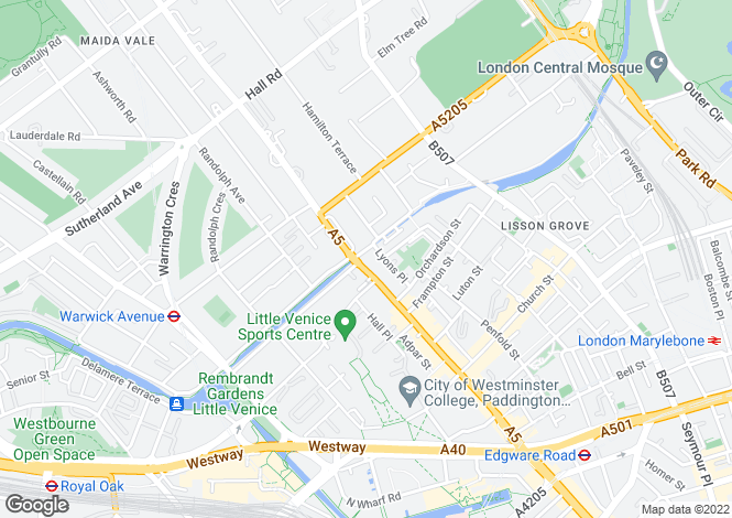 Map for Aberdeen Place, London,NW8