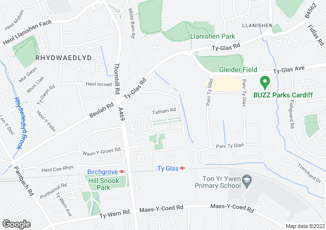 Map for TATHAM ROAD, LLANISHEN, CARDIFF