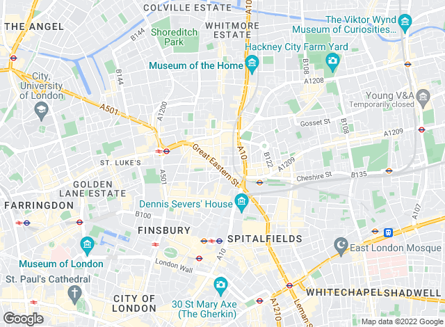 Map for Foxtons, Shoreditch
