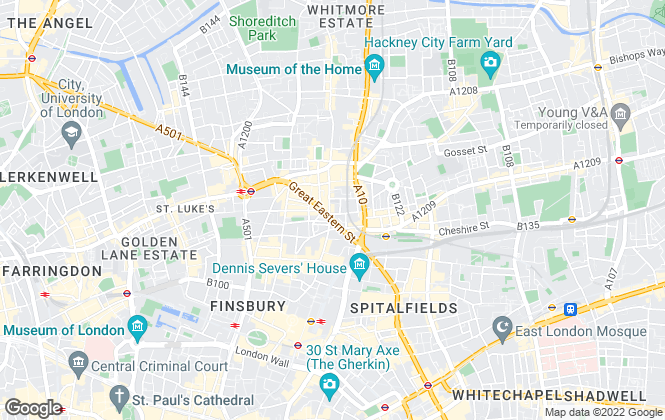 Map for Bridge New Homes Lettings, Shoreditch