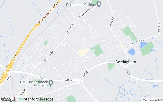 Map for Connollys, Corringham