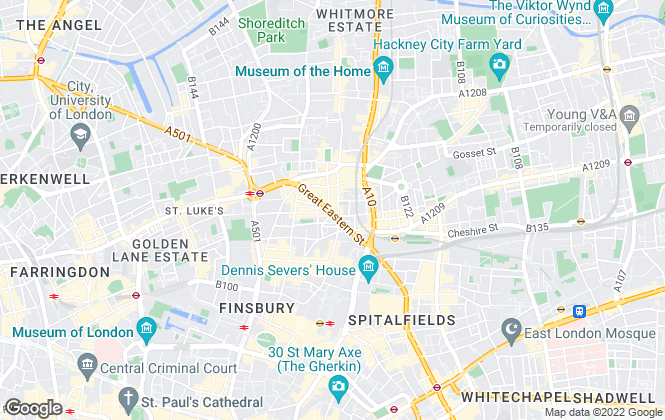 Map for Savills Lettings, Shoreditch