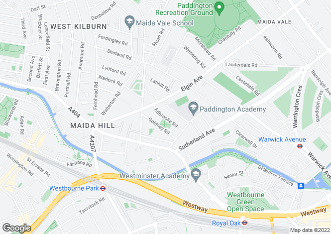 Map for Edbrooke Road, Maida Vale W9, London