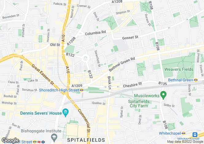 Map for Redchurch Street, Shoreditch, London
