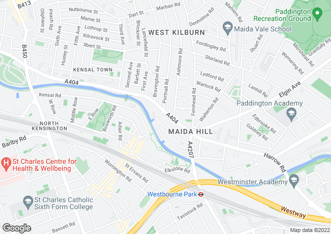 Map for Harrow Road, Kensal Rise, W9