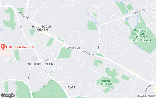 Map for Broads Property Services, Hayes