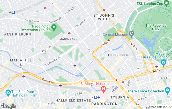 Map for Foxtons, Maida Vale