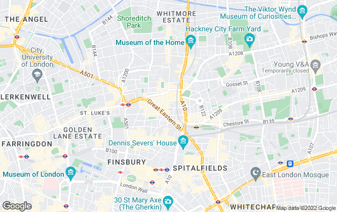 Map for Nelsons, Shoreditch