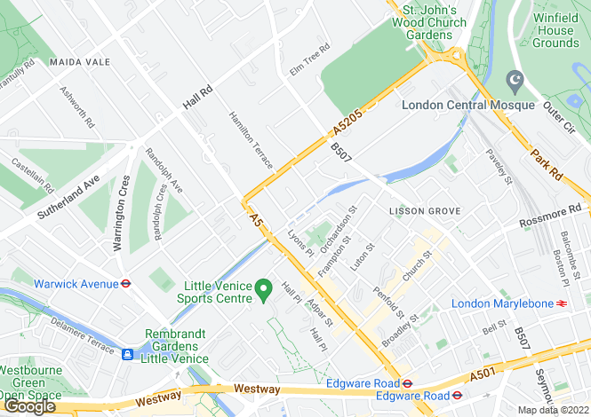 Map for Aberdeen Place, St Johns Wood, London, NW8
